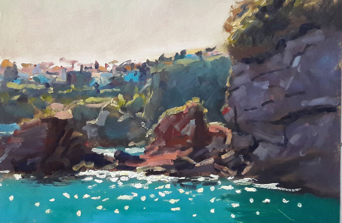 Painting In The Open Tony Robinson Artform Dunmore East
